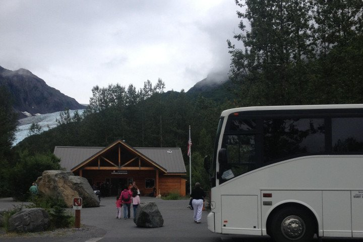 bus at exit glacier
