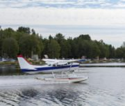 Float Plane at Lake Hood during one hour Anchorage City Tour